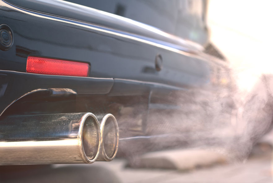 white smoke from exhaust system