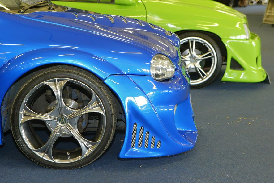 bonnets on modified cars